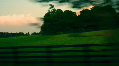 T190 kentucky country farmland horse farm lexington Stock Footage