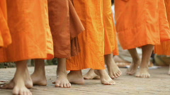 monks walking - stock footage