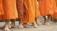 Stock Video Footage of monks walking