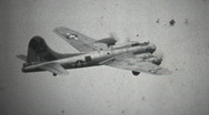 Boeing Flying Fortress B17 World War II bomber aircraft of the USAF Stock Footage