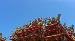 Asian Tao temple (zoom) Stock Footage