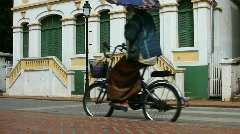 bike and tuc lao - stock footage