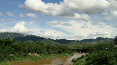 mekong river clouds  - stock footage