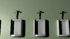 t190 urinal animation public mens room - stock footage