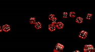 Falling Dices - Casino 11 (HD) Stock Footage