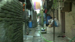 In side the Dharavi slum, Mumbai, India Stock Footage