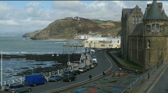 Aberystwyth promenade time lapse. Stock Footage