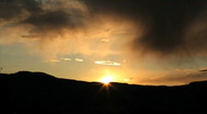 Storm clouds and Sunset Time Lapse Stock Footage
