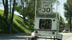Speed Enforcement Radar Stock Footage