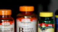 Stock Video Footage of Vitamins Diet
