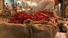 Indian spices market, Mumbai, India Stock Footage