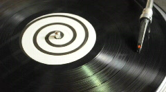 DJ Vinyl Record Spinning on Turntable Stock Footage