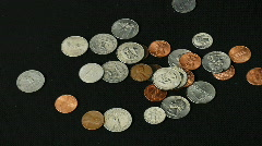 American Coins Pile Up Stock Footage