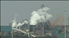 Smoke from dirty factory Stock Footage