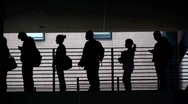 Students Silhouette Stock Footage