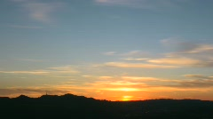 Spring Los Angeles Sunset Time Lapse 1080p Stock Footage