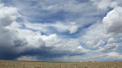Storm Cell moves in over the Plains Time Lapse Stock Footage