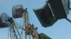 Two Ferris Wheels Close Up Stock Footage
