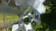 Spinning Decorative Windmill In The Backyard Stock Footage