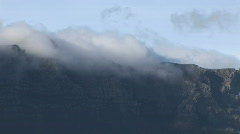 Clouds roll over Table Mountain Stock Footage