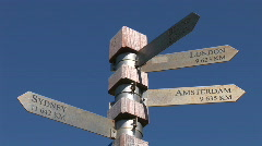Destination sign in Cape Town Stock Footage