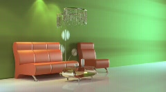 3d interior Stock Footage