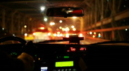 Driving in a taxi Stock Footage