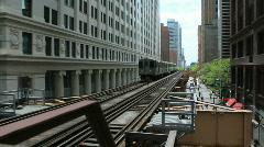 Chicago - El TraIn - stock footage