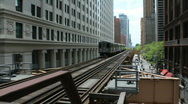 Stock Video Footage of Chicago - El TraIn