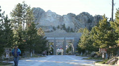 Mt Rushmore- Wide Stock Footage
