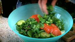 Saucing a Salad 2 Stock Footage