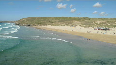 Perranporth beach waves time lapse. Stock Footage