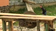 Board sawmill Stock Footage