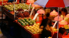 Open Air Market in HongKong - stock footage