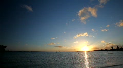 Hawaii Ala Moana Beach Sunset 3 Stock Footage