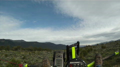 Ultralight flight across hill P HD GP Stock Footage