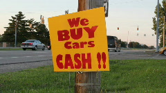 We buy used cars Stock Footage