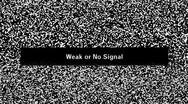 Stock Video Footage of TV noise. Weak or no signal