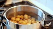 Stock Video Footage of Potatoes in pot