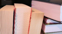 Many books Stock Footage