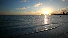 Hawaii Ala Moana Beach Sunset 7 Stock Footage