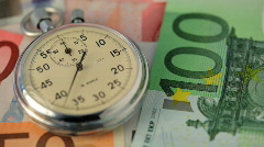 Time flies on money Stock Footage