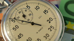 Time ticking on stopwatch Stock Footage
