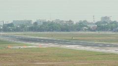 Jumbo Landing - stock footage