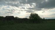 Remote Lonley Russian Village  Stock Footage