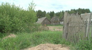 Remote Lonley Russian Village  Stock Footage