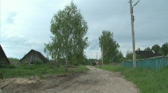 Remote Lonley Russian Village  - stock footage