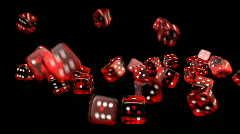 Falling Dices - Casino 12 (HD) - stock footage