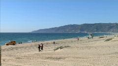 Malibu Zuma Beach Stock Footage