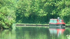 Tranquil Scene on Canal Stock Footage